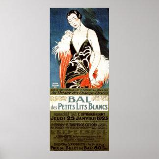 Art Deco Champs-Elysees Theatre c. 1923 Ad Poster