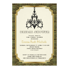 Art Deco chandelier gold wedding bridal shower 5