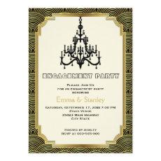 Art Deco chandelier gold wedding engagement party 5