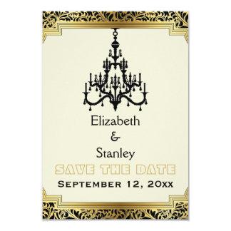 Art Deco chandelier wedding Save the Date Card