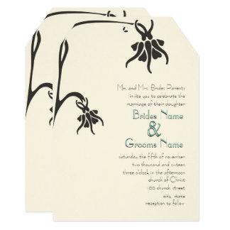 Art Deco Christian Die Cut Wedding Invitations