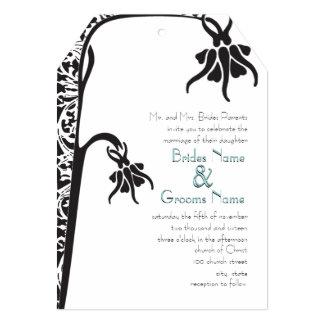 Art Deco Christian Flower Wedding Invitation
