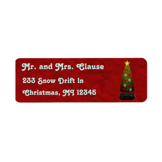 Art Deco Christmas Address Labels