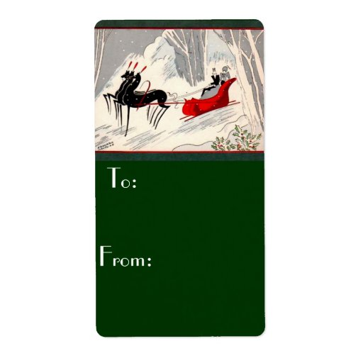 Art Deco Christmas Gift Tage Label