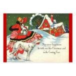 Art Deco Christmas Scene Business Card Template
