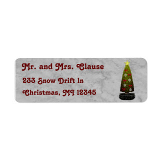 Art Deco Christmas Silver Return Address Labels