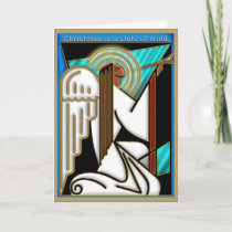 Art Deco Christmas State of Mind Holiday Card