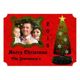 Art Deco Christmas Tree Photo Card