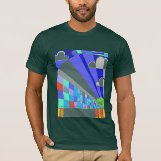Art Deco city graphics t-shirt