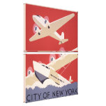Art Deco City of New York Airplanes WPA Poster Canvas Print