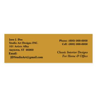 ART DECO CITYSCAPE NIGHT SKYLINE  ~ PROFILE CARDS! Double-Sided MINI BUSINESS CARDS (Pack OF 20)