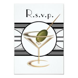 Art Deco Cocktail Design RSVP Cards
