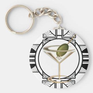Art Deco Cocktails Keychains
