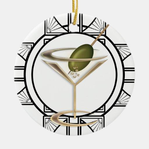 Art Deco Cocktails Personalized Ornament