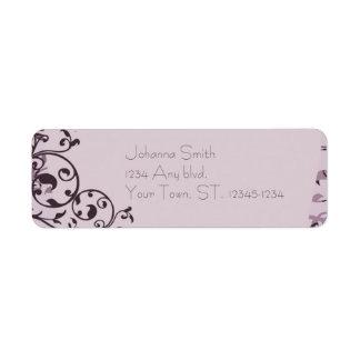Art déco color de rosa viejo que casa la etiqueta etiquetas de remite