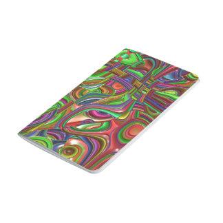 art déco, colores del arco iris cuadernos grapados