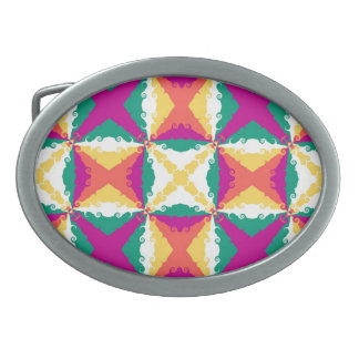 Art Deco Colorful Swirl Retro Abstract Art Belt Buckle