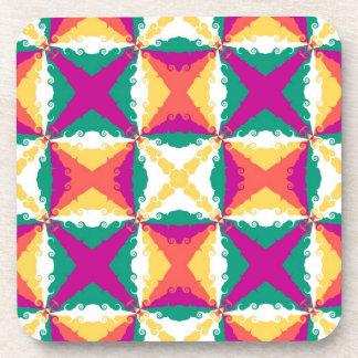 Art Deco Colorful Swirl Retro Abstract Art Coasters