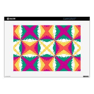 Art Deco Colorful Swirl Retro Abstract Art Decal For Laptop