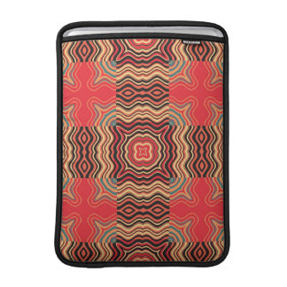 Art Deco Colorful Swirl Retro Abstract Art MacBook Air Sleeves
