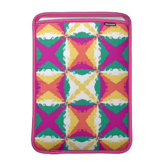 Art Deco Colorful Swirl Retro Abstract Art MacBook Sleeve