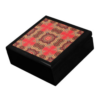 Art Deco Colorful Swirl Retro Abstract Art Jewelry Box