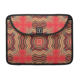 Art Deco Colorful Swirl Retro Abstract Art Sleeves For MacBooks