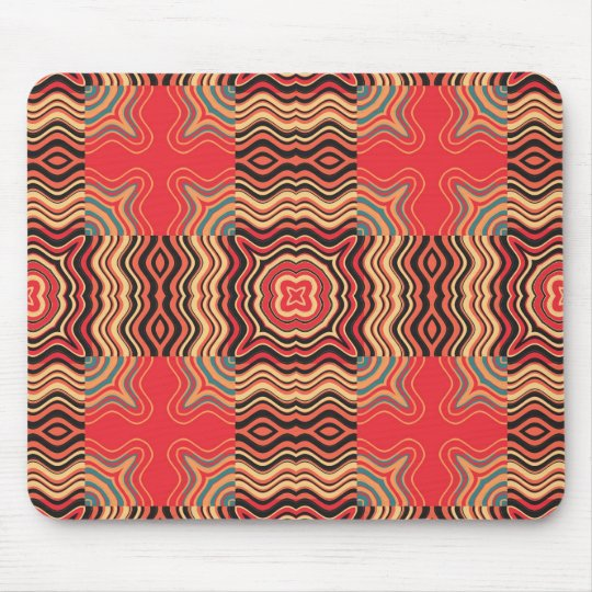 Art Deco Colorful Swirl Retro Abstract Art Mouse Pad