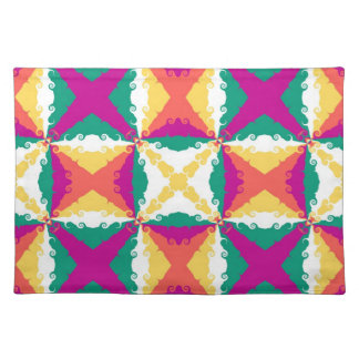 Art Deco Colorful Swirl Retro Abstract Art Cloth Place Mat