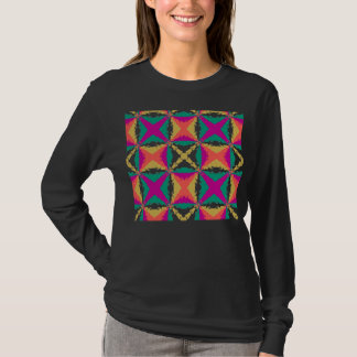 Art Deco Colorful Swirl Retro Abstract Art T-Shirt