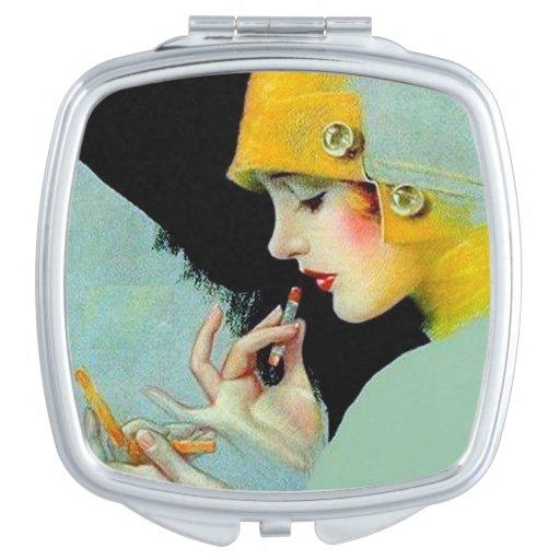Art Deco Compact Mirror