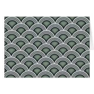 Art Deco Concentric Circles Card
