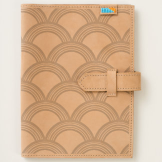 Art Deco Concentric Circles Leather Journal