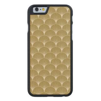 Art déco, concha de peregrino, modelo, oro, funda de iPhone 6 carved® de arce