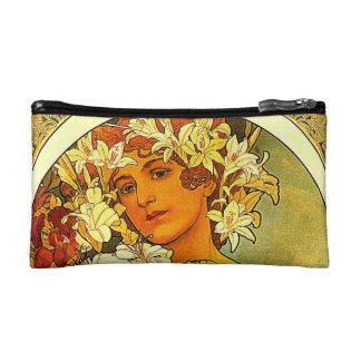 art deco cosmetic bag