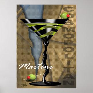 Art déco cosmopolita de Martini el   Póster