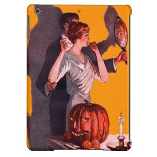 Art Deco Couple Mirror Jack O Lantern Pumpkin Case For iPad Air
