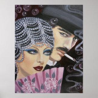 ART DECO COUPLE POSTER