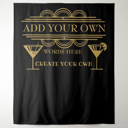 Art Deco Create Your Own Photo Booth Back Drop