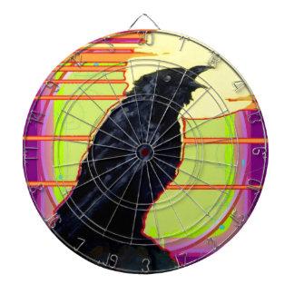 Art Deco Crow Art gifts By Sharles Dartboard