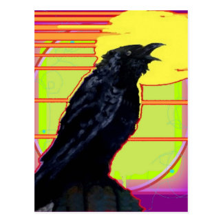 Art Deco Crow Art gifts By Sharles Postcard