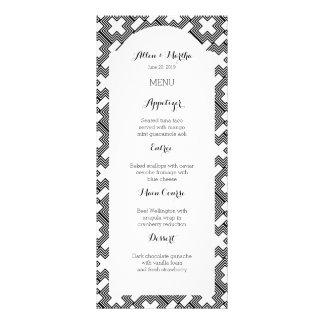 Art déco cruzado blanco y negro geométrico tarjeta publicitaria a todo color