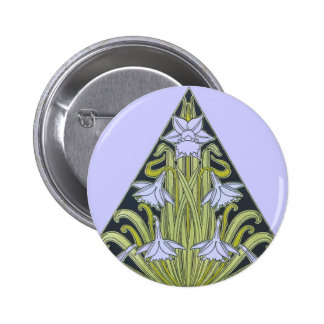Art Deco Daffodil Design Pin