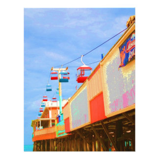 Art Deco Daytona Beach Pier Custom Letterhead