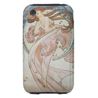 Art déco de Alfonso Mucha Tough iPhone 3 Carcasas
