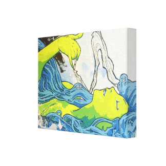 Art déco de Alfonso Mucha Lona Envuelta Para Galerías