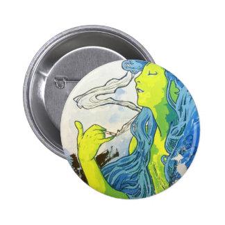 Art déco de Alfonso Mucha Pin Redondo 5 Cm