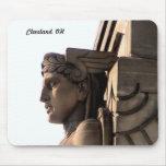 Art déco de Cleveland (guardia de puente) Mousepad Tapetes De Raton