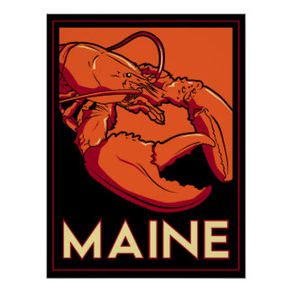 Art déco de Maine Poster