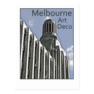 Art déco de Melbourne - edificio del siglo Tarjetas Postales